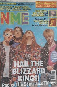 NME Music Magazine.14 March 1992.Senseless Things Cover.U2/Charlatans/Nick Nolte