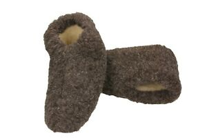 Warm 100 % Wool Women's and Men`s Slippers Boots Booties US 5 -11, EUR 36 - 45