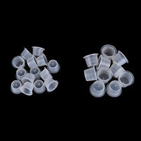 Tattoo Ink Cups Caps Pigment Supplies Plastic Small Medium Large 100Pcs