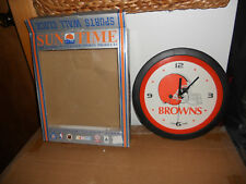 1990's Cleveland Browns Sun Time Officially Licensed Wall Clock NICE