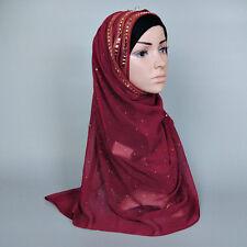 Burgundy Muslim Islam Jilbab Face Veil Islam Hijab & Niqab Beads Wedding Veils