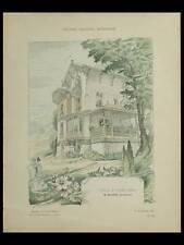 COYE LA FORET, VILLA - 1906 - PLANCHES ARCHITECTURE - MARNEZ