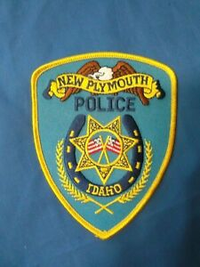 NEW PLYMOUTH, IDAHO POLICE PATCH PAYETTE COUNTY SHERIFF ID