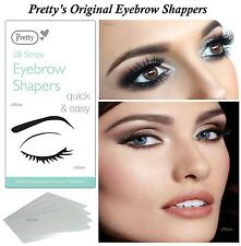 PRETTY SMOOTH EYEBROW SHAPERS 28 WAX STRIPS UNWANTED HAIR REMOVER EASILY (New)