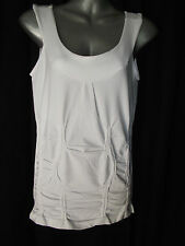 BNWT Womens Sz 14 Bella B Wear Designer Label Smart White Gathered Top RRP $60