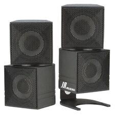 "Elegant 2"" Diamond Cube Home Theater Speakers + Bracket"