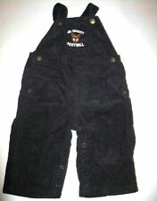 Gymboree boys Little Rookie football tiger navy corduroy overalls pants 3-6 mo