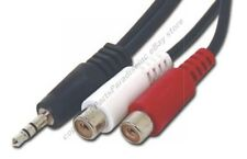 """6"""" 1/8""""Stereo Male~Dual RCA~Female Audio/PC/MAC/IPOD/MP3~AUX Adapter Cable/Cord"""