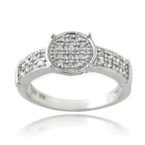 925 Silver 1/4ct Diamond Round Promise Ring