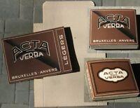 Art Deco Cigar / Cigarillo 1920s Box, 'Acta Non Verba' / 'Actions, Not Words'