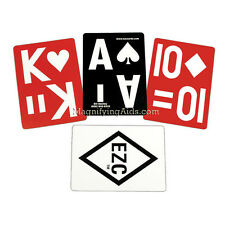 EZC Playing Cards - Standard Size Poker Cards - Low Vision, Reverse Image