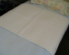 2 Washable Bed Pads with Tucks, incontinence, bedwetting (Twin-Pack)