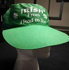 green Irish hat Irish from head to toe cover shamrock