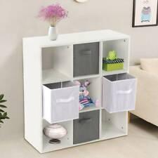 White 9 Cube Kids Toy/Games Storage Unit Girls/Boys Bedroom Shelves Grey  Boxes