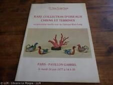 1977.catalogue vente porcelaine rose Kien Long (chine).