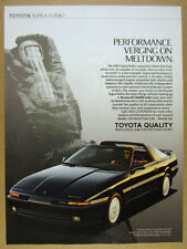 1989 Toyota Supra Turbo color photo vintage print Ad