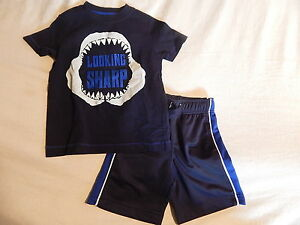 NWT 4 4T GYMBOREE JAWSOME TOP & SHORTS SPRING SUMMER SHARK