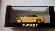 ULTRA RARE MINICHAMPS BMW M3 COUPE DAKAR YELLOW 1:43 1 OF 2592 MINT IN BOX