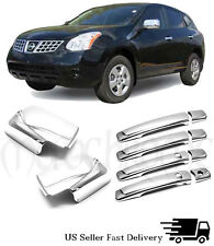 Chrome Covers Door Mirror&Door Handles  For 08-13 Nissan Rogue*NO PSG KEYHOLES*