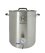 Kegco 15 Gallon Brew Kettle with Thermometer and 2-Piece Ball Valve