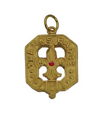 24K Gold Plated Boy or Girl Scout Thanks Badge Charm Jewelry fleur de lis Leader