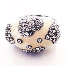 USA RING Rhinestone Crystal Fashion Gemstone Silver SIZE-9 WHITE Clear
