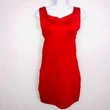 Oioninos Womens Dress M Red Sleeveless Backless Cocktail Stretch Bodycon OI39