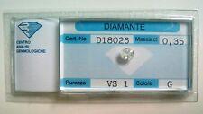 Diamante Naturale - Old Cut ct. 0.35 G VS 1