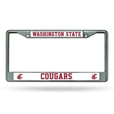 Washington State WSU Cougars Chrome License Plate Frame FREE US Shipping