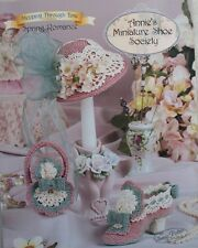 Annie's Attic Miniature Shoe Society Hat Purse Crochet Pattern Spring Romance