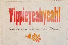 Postkarte Sprüche Karte Gru�Ÿkarte Glückwunschkarte Yippieyeahyeah!