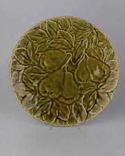 Alte Keramik Platte mit Birnen Reliefdekor - Saargemünd Sarreguemines