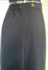 LANA LEE PETITE LONG NAVY LINED DRESS SKIRT SIZE 12