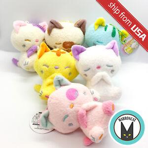 Japan Imported Kitten Sleeping Cat Plush Cute Kawaii Doll Mascot Keychain Charm