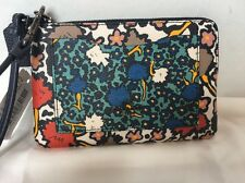 COACH corner zip wristlet 57716 Mixed Yankee Floral Small New With Tags