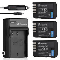 DMW-BLF19E BLF19 Battery + Charger For Panasonic Lumix DMC-GH3 DMC-GH4 Camera US