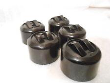 Orig. Serienschalter Bakelit doppel Kipp  Schalter  Aufputz. schwarz Steckdose