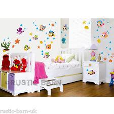 Simpatico cartone animato Colorati Pesci Bolle Home Decoration Wall Sticker Arte Decal