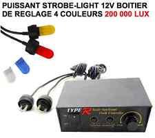 Puissant strobe-light 4 couleurs réglable 200 000 Lux RAID 4X4 HDJ KDJ PATROL