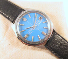 100% Vintage Citizen New Master Date Winding Blue Dial Mint Japan Watch #P195