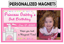 12 Princess Birthday Party Favors Photo Magnets - Nice Item
