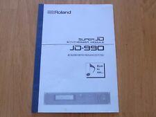 Roland JD-990 Synthesizer original Kurzbedienungsanleitung