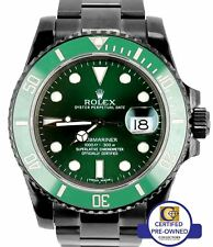 2012 Rolex Submariner Date Hulk 116610 LV Black PVD Stainless Green 40mm Watch