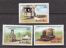 Nauru 1980 Early Steam Locomotive Train Set MNH (SC# 214-216)