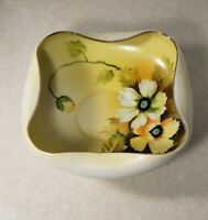 Vintage Yellow Floral Folded Bowl Made in Japan