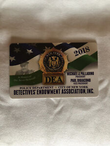 AUTHENTIC Collectible Brand New 2018 NYC DEA PBA CARD