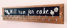 Will Run For Cake - Runner/Sports Medal Hanger/Holder/Display