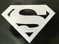 2 qty SUPERMAN LOGO JUSTICE LEAGUE DECAL STICKER VINYL WALL LAPTOP CAR 4.5""