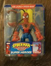 NEW! 2004 Spider-Man and Friends Super Heroes Air Launch Spider-Man Toy Biz