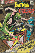 The Brave and the Bold Comic Book #80, DC Batman and The Creeper 1968 VERY FINE